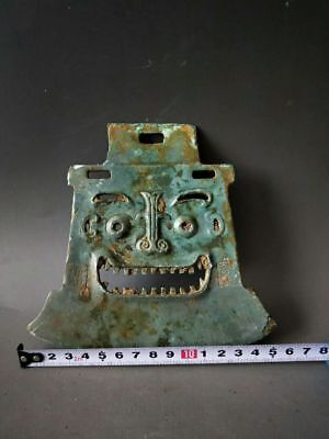 China Ancient WarringStates Period Soldiers Long-rang Bronze Weapon Tomahawk 人面钺