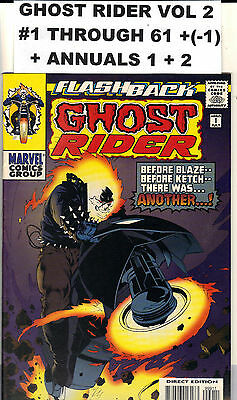 Ghost Rider 65 Lot Run Vol 2 #1 thru 61 + Specials Marvel 1990 - 1995 Hi Grade