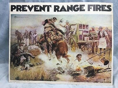 VTg~1970~Smokey The Bear~ Prevent Range Fires Poster-department Forest Service