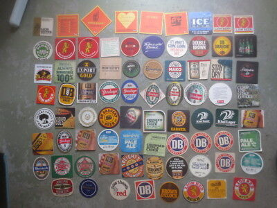 77 different NEW ZEALAND  BREWERIES, Issued BEER COASTERS