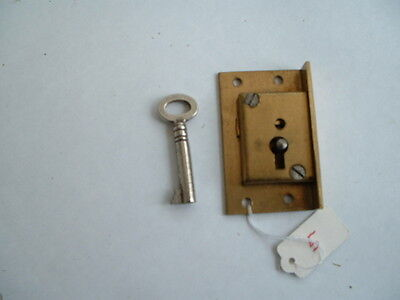 1 x Old   brass  Lock & original key Unused Old Stock