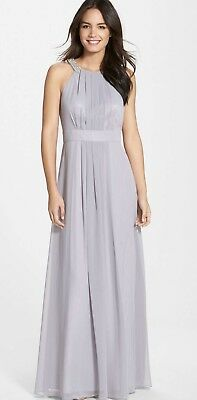 1f2851fa0454 NWT Eliza J Embellished Chiffon Gown Dress Gray Silver Size 8 From Nordstrom