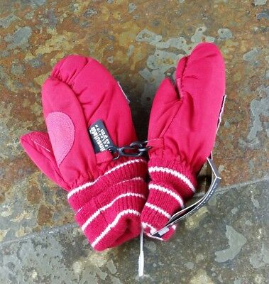 Faded Glory Thinsulate Toddler One Size Red Winter Waterproof Mittens