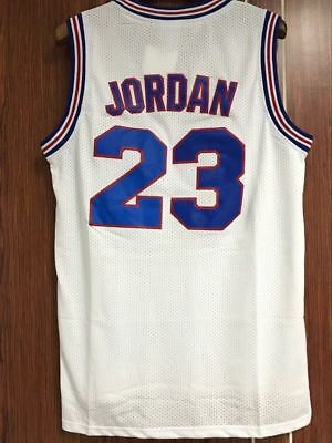 Space Jam Tune Squad Basketball Cousu Maillot Michael Jordan # 23 Blanc Taille