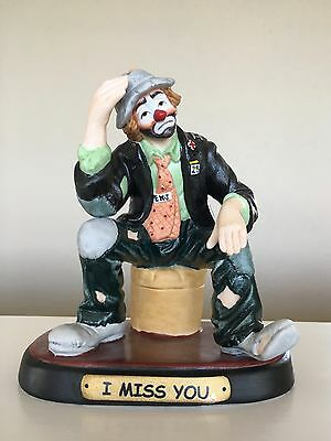 """Authentic Emmet Kelly Jr Collectible from flambro imports """"I MISS YOU"""""""