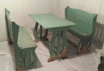Mid Century Farmhouse Table and Bench Seating