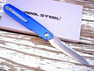 Real Steel Knives 7832 G5 Metamorph knife front flipper folder Intense Blue Al
