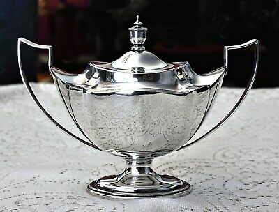 """Beautiful Gorham Sterling Silver Sugar Bowl with lid and """"A"""" monogram"""