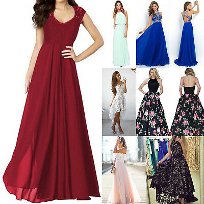 Womens Ball Gown Long Maxi Dress Party Cocktail Bridesmaid Wedding Formal Summer
