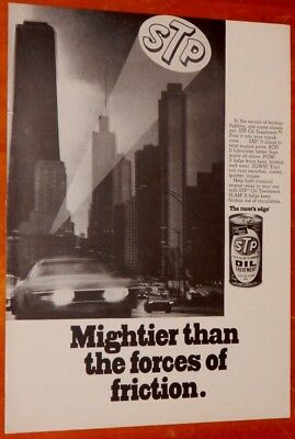 1969 Buick Riviera Driving In City For Vintage Stp Oil Ad - Vintage American