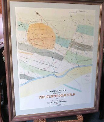 Gympie Goldfield. Map number one. 1888.Framed