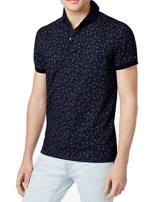 750622b2 New Mens Tommy Hilfiger Slim Fit Floral Print Real Indigo Polo Shirt Xxl $99