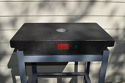 """Mojave Gray Granite Machinist INSPECTION SURFACE Plate32""""x20""""x5"""" + Welded Stand"""