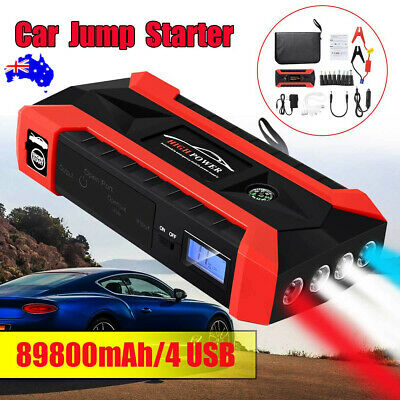 89800mAh USB Car Jump Starter Pack Booster Charger Battery Power Bank 12V OZ