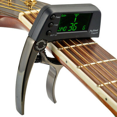 NEW Tcapo20 Guitar Capo Tuner W/ LCD for Acoustic Folk Electric Guitar Bass H112