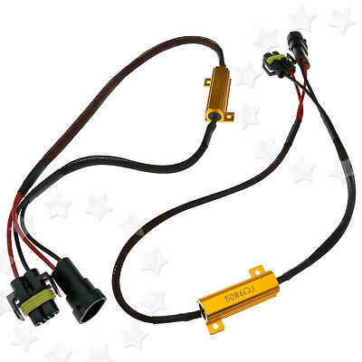 2 x H8 H11 LED DRL Fog Light Canbus 50W 6Ohm Load Resistor Wiring Canceller