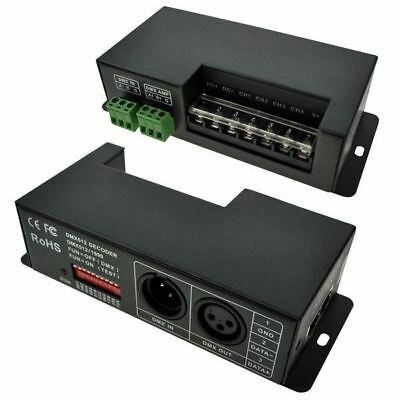 LED Supplies DMX Controller Const Voltage 12VDC - 24VDC 4 chan x 5A 20A Max