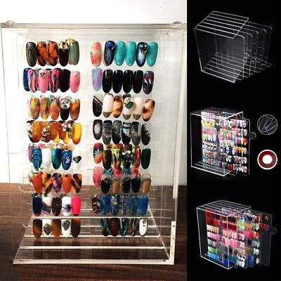 1x 5-Layers Nail Polish Acrylic Display Holder Rack Shelf Storage Nail Accessory