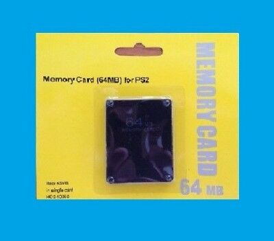 64Mb Memory Card For Playstation2 Ps2 New - Free & Fast Shiping