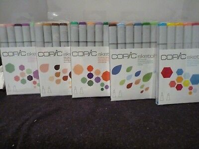 COPIC-Sketch-Markers-6-piece- skin,floral,perfect,earth,& secondary tones
