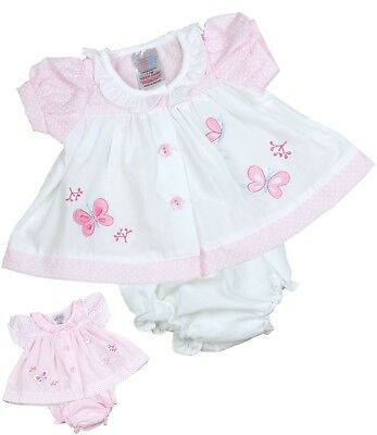 BabyPrem Micro PREEMIE Tiny Baby Clothes Pink & White Dresses 3-5 5-8lb Dress