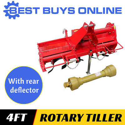 4FT CULTIVATOR ROTARY HOE TILLER 1250mm 3 Point Linkage Suit Tractor 20HP+