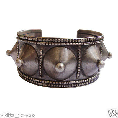 Antique Ethnic Tribal Old Silver Traditional Vintage Bangle Bracelet Jewelry