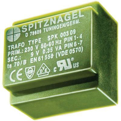 Spitznagel SPK 0380606 PCB Mount Transformer 230V to 2 x 6V 3.8VA