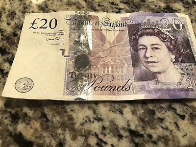 BRITISH 20 POUNDS BANKNOTE REAL CURRENCY £20 note soon to be out of circulation