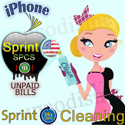 Cleaning Service Sprint USA iPhone 6 6S 7+ Unbarring Fix UNPAID BILLS SPCS: YES!