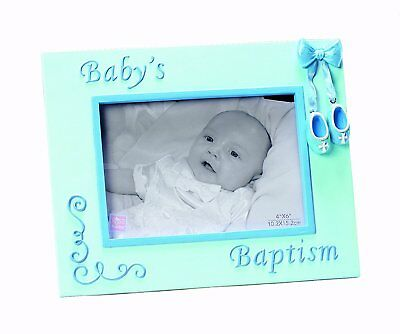Russ Berrie Small Blessings Baby's Baptism Photo Frame, Blue Discontinued by