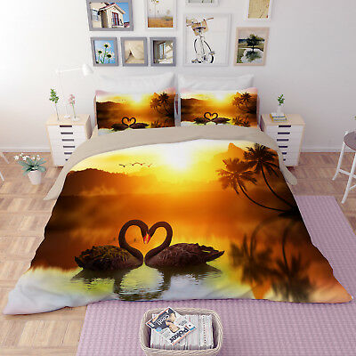 3D Painted Tree 578 Bed Pillowcases Quilt Duvet Cover Set Single Queen AU Carly