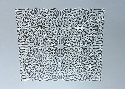 Tile Pattern Lace Geometry A4 Mylar Reusable Stencil Airbrush Painting Art Craft