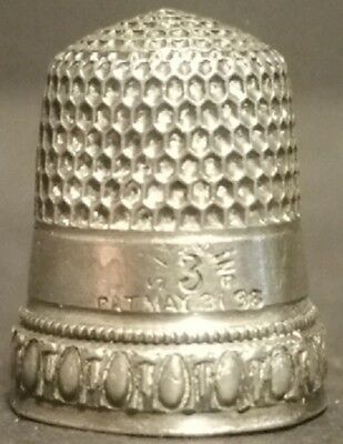 Simon Brothers Child's Sterling Silver Thimble 1898 Egg & Dart Motif