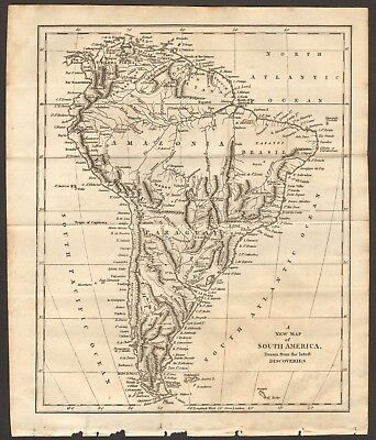 1807 Antique Map- A New Map Of South America Drawn From The Latest Discoveries
