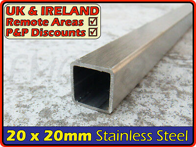 Stainless Steel Square Tube ║ 20 x 20 mm ║ box section iron,profile,tubing,pipe