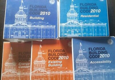 FLORIDA BUILDING CODE 2010 SET - 5 books