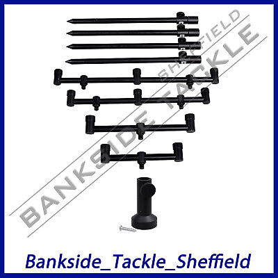 Prologic Black Fire Bank Sticks, Buzz Bars and Stage Stands -  LAST FEW!!!