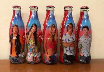 COCA COLA BOTTLES - set 5 BOTTIGLIE ARGENTINA TEEN ANGELS - FULL 237ml