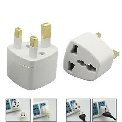 All UK To EU Euro Europe European Travel Adapter Power Plug Converter 3-2 Pin