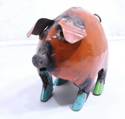"8"" Small Metal Pig Yard Art"