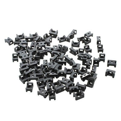 New Black 4.5mm Width Cable Tie Base Saddle Type Mount Wire Holder 100Pcs R3D1