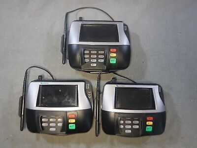 Lot of 3 VeriFone MX860 POS Credit Card Reader Terminal (M094-409-01-RC) w/ Pen