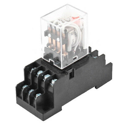 DC 24V Coil Volt 4PDT 14 Pin Terminal Electromagnetic Relay HH54P G4C3