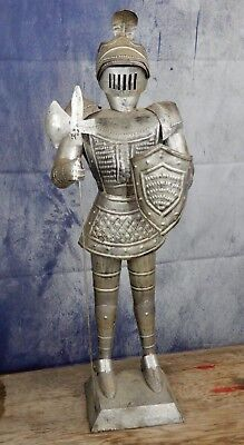 Vintage, tin soldier, knight, statue, model,medieval