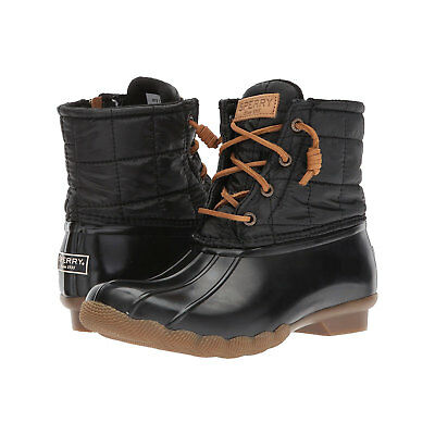 b8603c6cb WOMEN'S SALTWATER SHINY Quilted Duck Boot Black - STS80755 - $79.99 ...