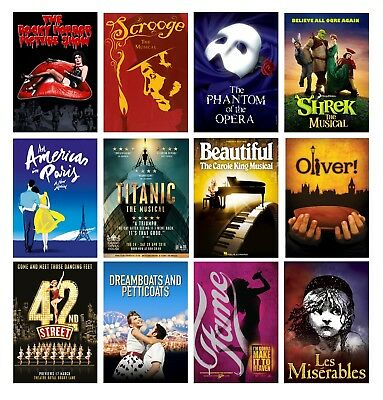 Best Musical Movie Theatre A4 A3 Posters Buy 1 Get 2 Free 60+ Options