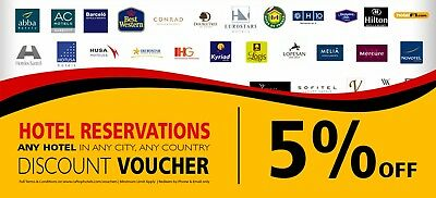 5% Hotel Discount Voucher for Booking any Hotel in any City - by Caftop Travels