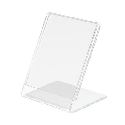 Retails Acrylic Slant Style Sign Holder Leaflet Menu Name Card Organizer