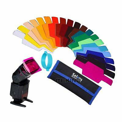 20 Color Photographic Gels Filter Gels-Band For Canon Nikon Yongnuo Speedlite
